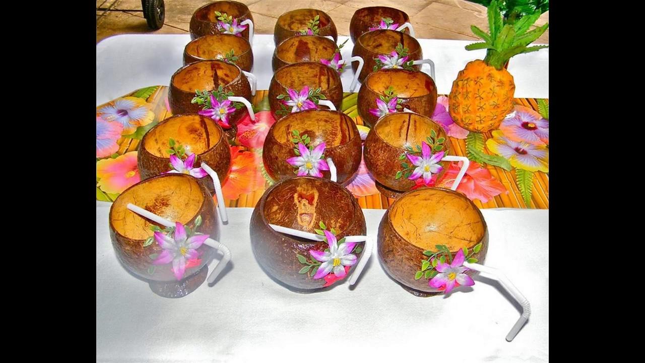 Decoraciones de fiesta hawaianas youtube - Pinas decoradas para centro de mesa ...