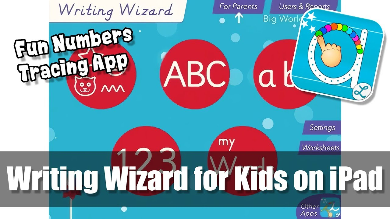 Writing Wizard for Kids on iPad - Counting 1-10 - Fun Number Tracing ...