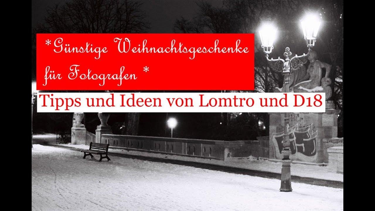 Günstige Weihnachtsgeschenke für Fotografen (Talk mit Lomtro ...