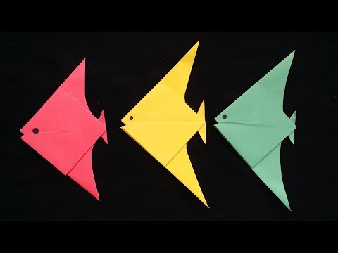 DIY: Origami Fish With Paper!!! How To Make Easy Origami Fish With Color Paper !!!!