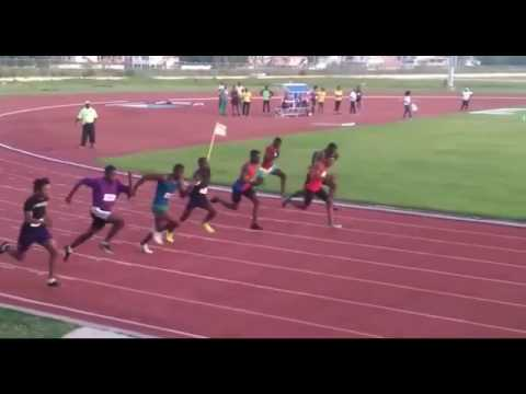 University of Guyana's Sports 2016/17 100m Finals. Won by Rayon Abrams