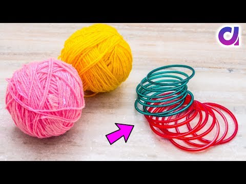 Best out of waste bangles and Wool Craft ideas | DIY Room Decor | Artkala