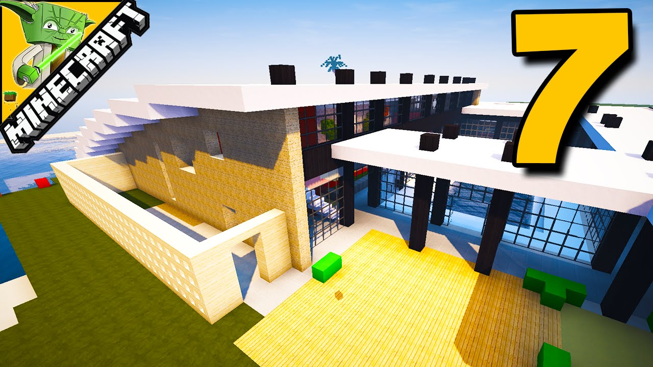 Minecraft let 39 s build a modern house 7 youtube for Lets build modern house 7