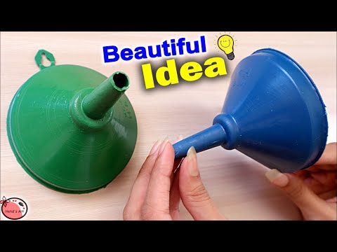 DIY 👉 Funnel Reuse Craft Idea || How to Make Wall Hanging at Home || DIY Room Decor | Jhumar Making