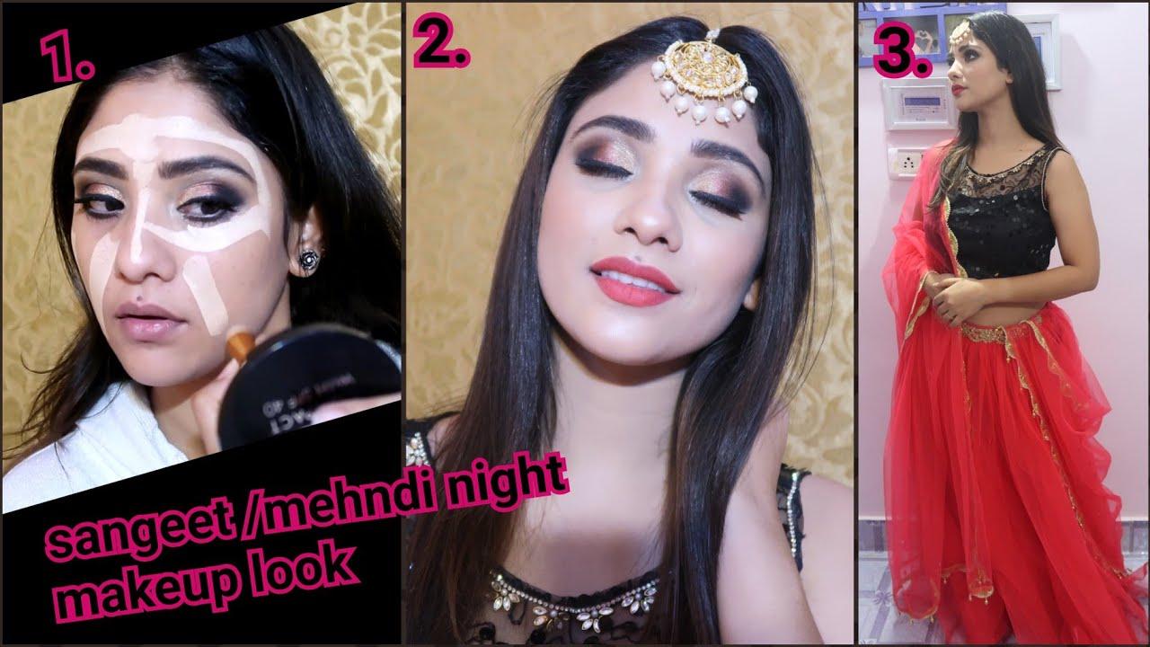 Sangeet/Mehndi night makeup