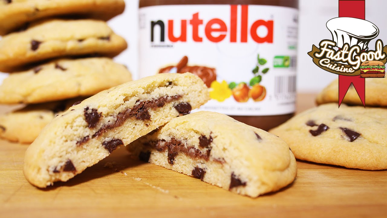 recette simple et rapide cookies fourr au nutella youtube