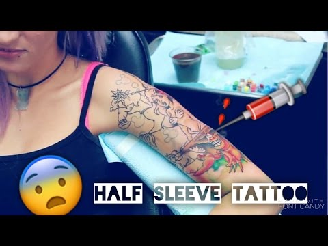 GETTING MY HALF SLEEVE TATTOO! (DISNEY)