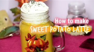 How to make a SWEET POTATO LATTE | Niques Oasis