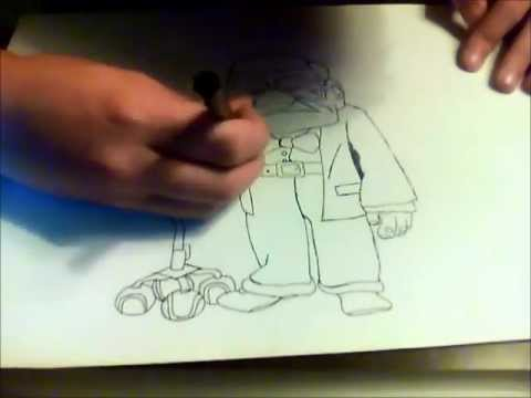 How To Draw Carl (Mr. Fredrickson) from Pixar's UP - Step by Step