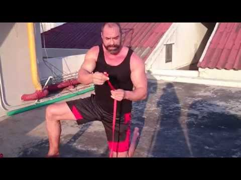 Homemade $2 Gym System (Rope And Handles Bodyweight Training)