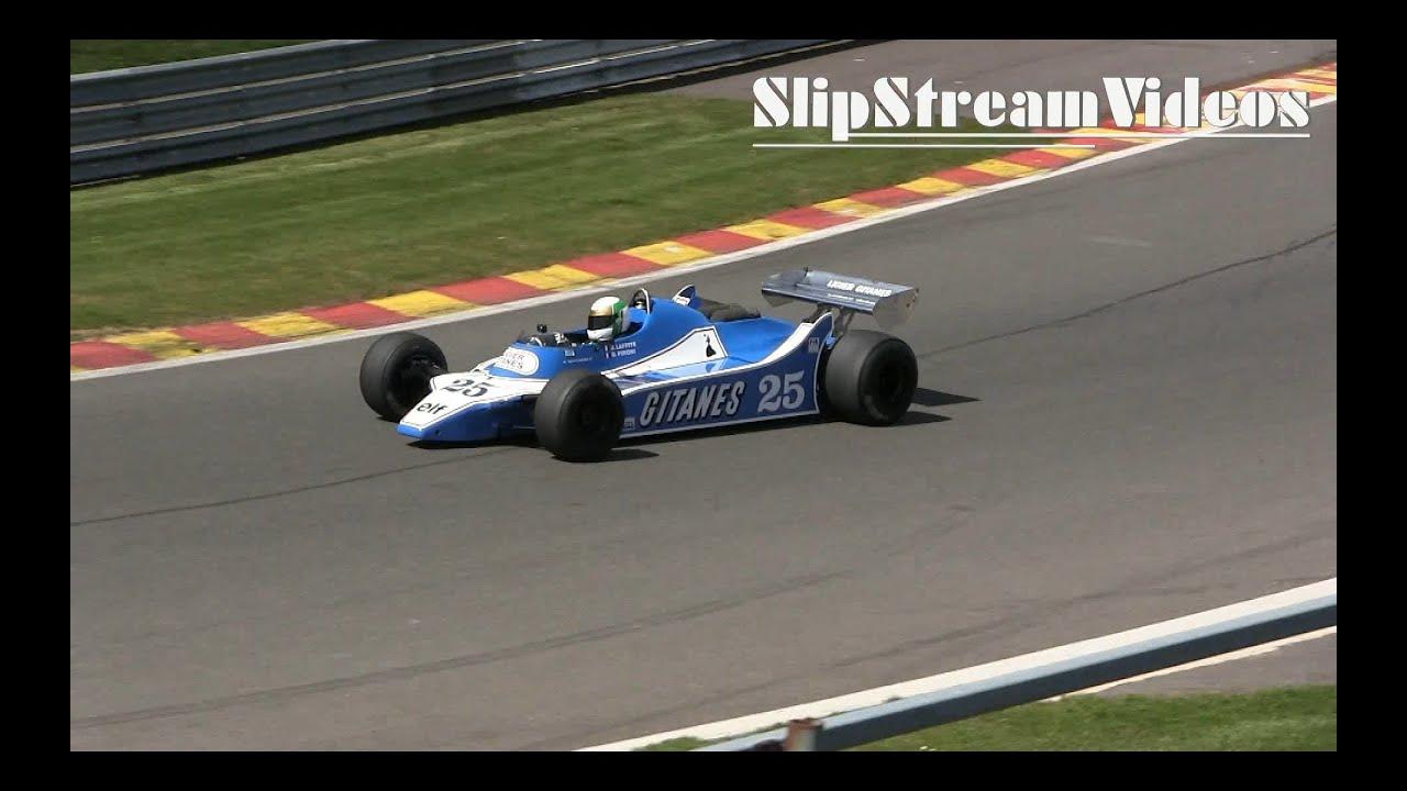 Classic Formula 1 Car in 1080p HD! Pure Sounds! 1980 #25 Ligier JS11 ...