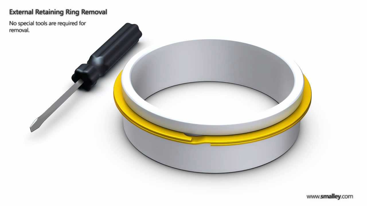 Retaining Ring Removal External Shaft Youtube