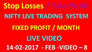 NIFTY FUTURE LIVE TRADING STRATEGIES 14 02 2017