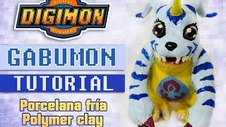 [Cristhian Crafts collab] DIY Digimon Tutorial: Gabumon polymer clay - Porcelana fría