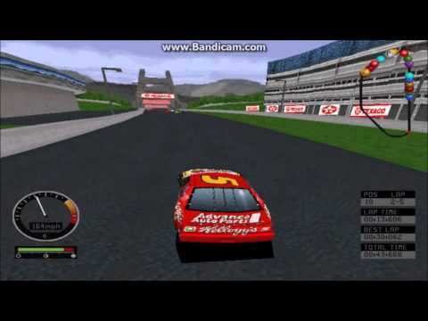 NASCAR Road Racing (PC) Gameplay (Terry Labonte) (Bridgeport Speedway) (5 Laps)
