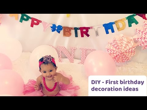 DIY | First birthday decorations | Ideas!