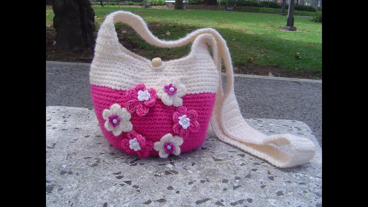 Como hacer bolso tejido a crochet paso a paso parte 2 2 - Como hacer bolsos tejidos ...