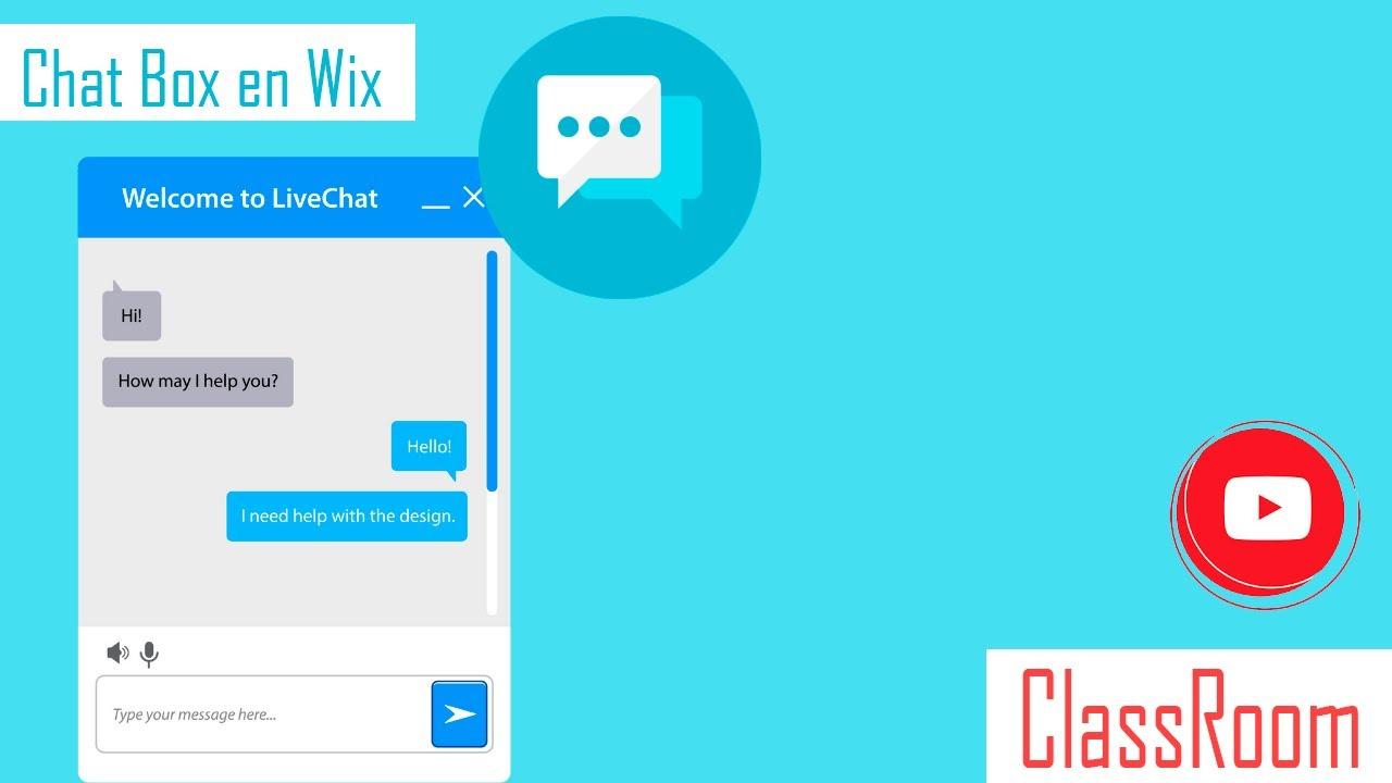 Chat Box para Wix   caja de chat  Diseño web   Class Room