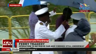 Likoni Ferry: Vehicle secured, Kenyan Navy boss arrives at the channel
