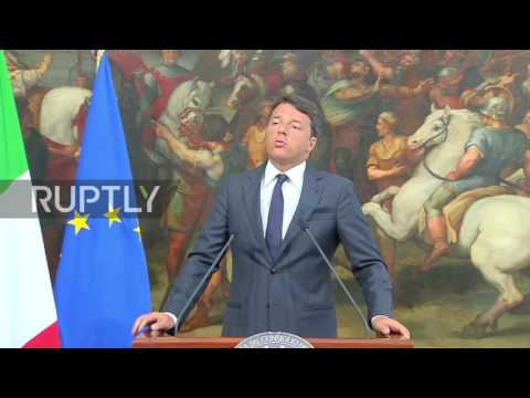 """Italy: """"Italy is crying"""" says PM Renzi after earthquake leaves dozens dead, hundreds missing"""