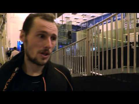 Squash: Gregory Gaultier Post Game Interview - TOC QF 2014