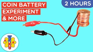 2 HOURS of AMAZING SCIENCE EXPERIMENTS YOU CAN DO AT HOME | Coin Battery Experiment Part 2 | Lab 360