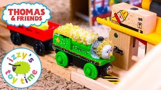 Thomas and Friends | Bubs Teaches Grandma How to Build a Thomas Train Track! Fun Toy Trains for Kids