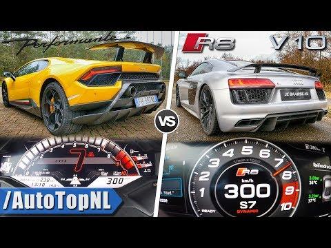 Audi R8 V10 Plus vs Lamborghini Huracan Performante | 0-300km/h ACCELERATION & AUTOBAHN by AutoTopNL