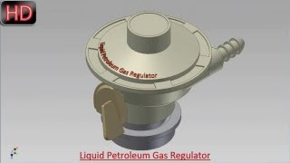 Liquid Petroleum Gas Regulator (Video Tutorial) Autodesk Inventor