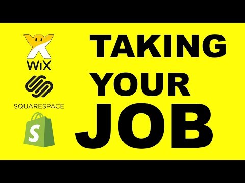Wix Square Space and Shopify taking web developers jobs