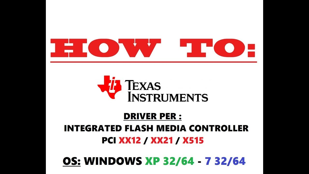 TEXAS PCIXX21 DRIVERS WINDOWS 7