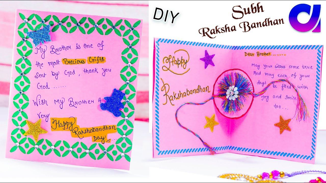 How to make handmade greeting cards for rakhi raksha bandhan how to make handmade greeting cards for rakhi raksha bandhan card artkala 260 kristyandbryce Image collections