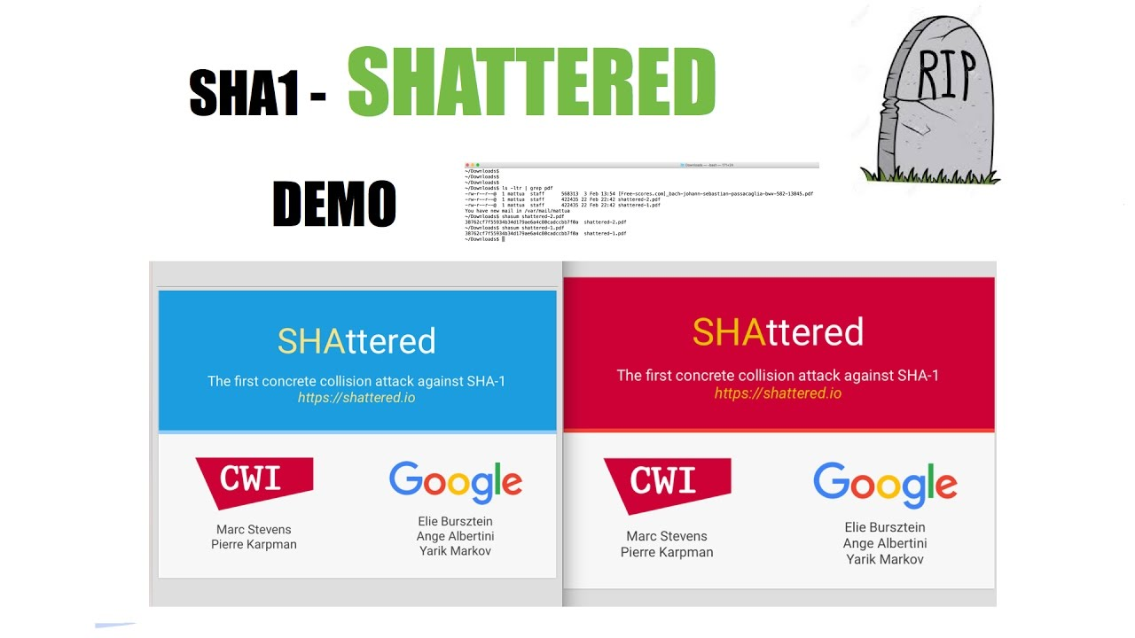 Shattered Sha1 Busted Demo Of The Files Used For The Collision
