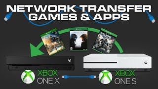How To Transfer Games from Xbox One To Xbox One X - Xbox One Network Transfer