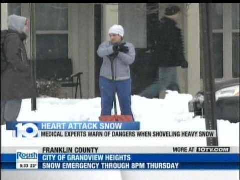 10TV Reports on the Dangers of Shoveling Heavy Snow