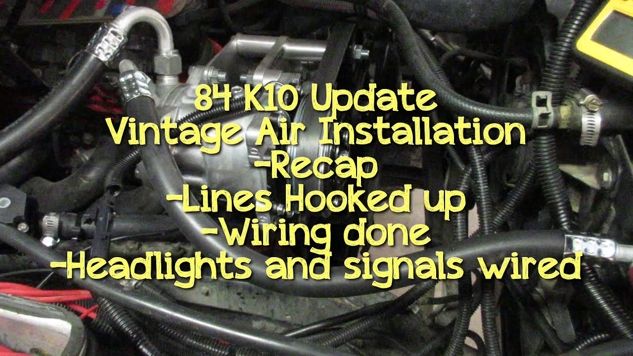 84 chevy k10 update, vintage air wiring / lines, pcm ... 84 silverado headlight wiring diagram