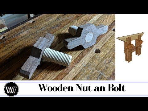 Saw Vice Build Part 5 - How to Make a Wooden Nut and bolt