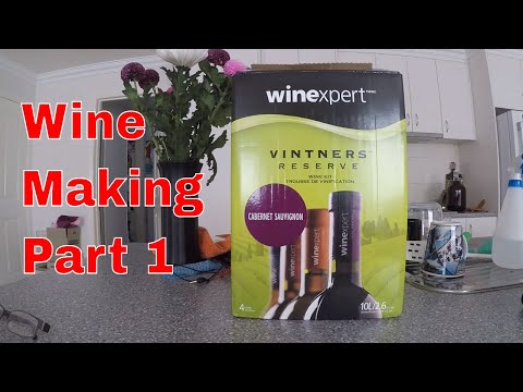 Winexpert Wine Kit, Merlot. Preparing And Fermenting Part 1