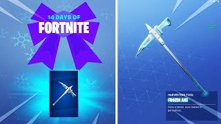 "New FREE ""FROZEN AXE"" Pickaxe UNLOCKED in Fortnite.. (FREE GIFT)"