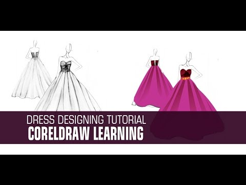 Dress Designing In Coreldraw Youtube