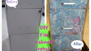Diy File Cabinet Refurbishment