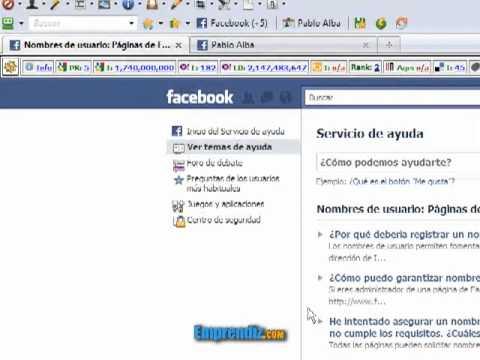 entrar a facebook con nombre de usuario
