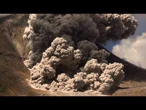 Gunung Sinabung volcano eruptions and pyroclastic flows