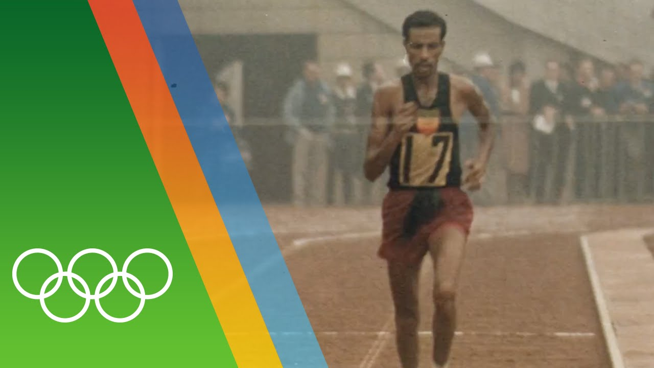 Abebe Bikila wins Marathon barefooted | Epic Olympic Moments