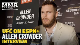 UFC Brooklyn: Allen Crowder 'Happy to Be The Man' to Knock Out Greg Hardy - MMA Fighting