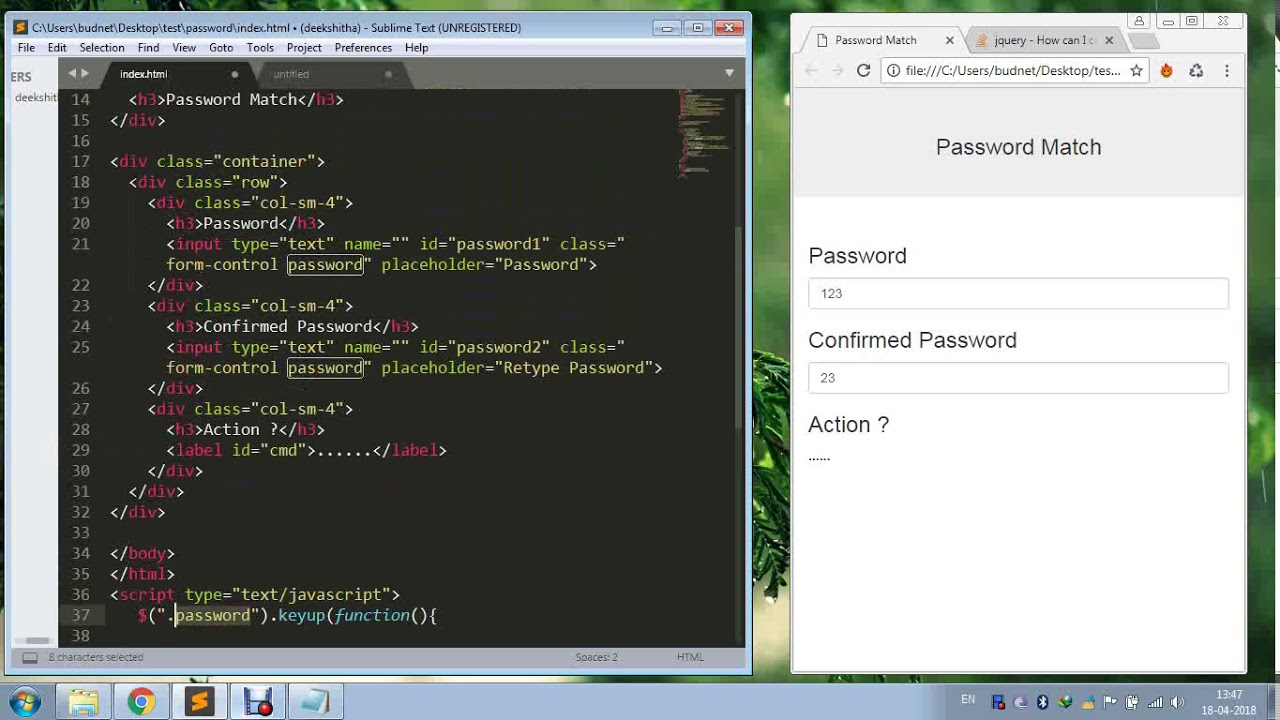 Confirm Password Match with jQuery Validate?