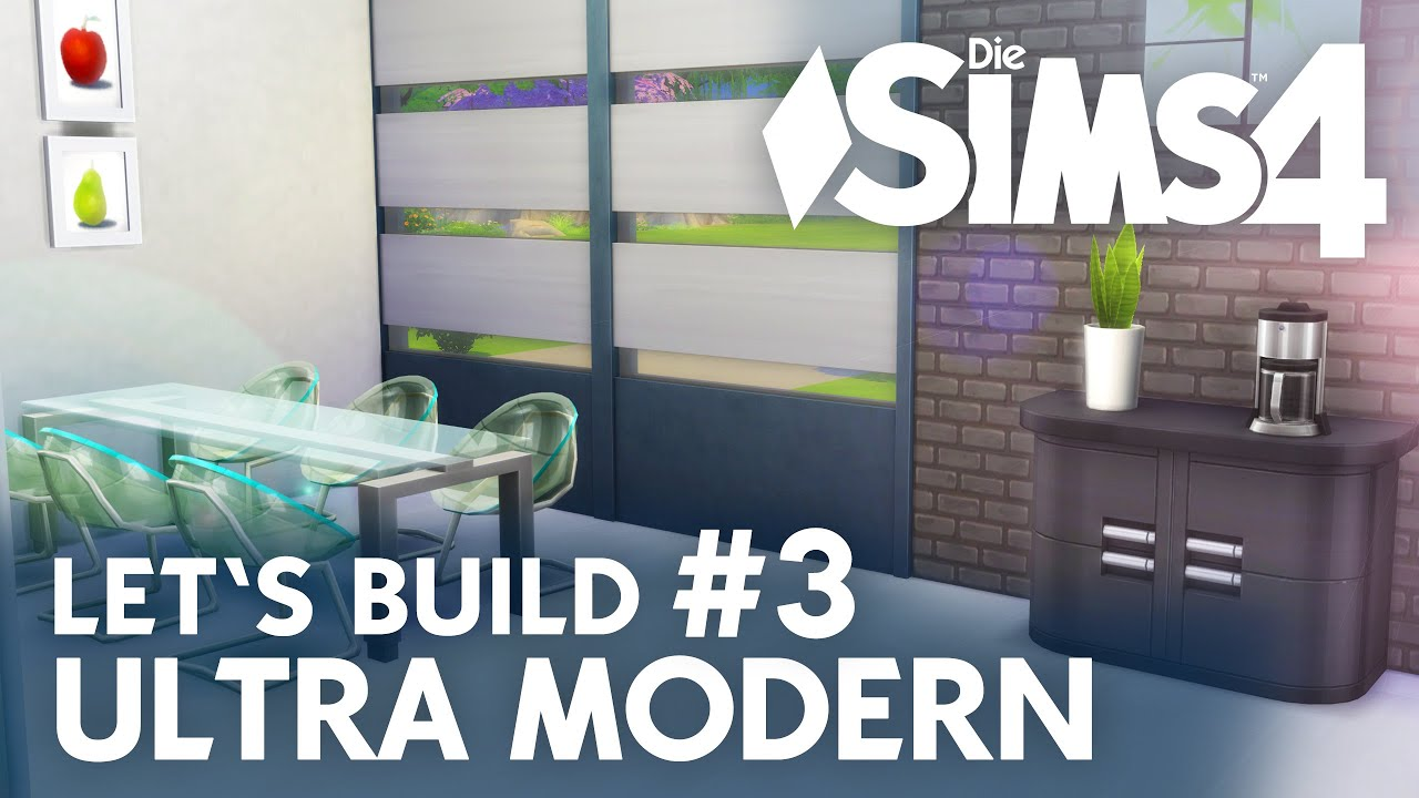 Die sims 4 lets build ultra modern 3 küche esszimmer youtube