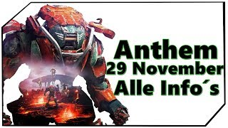 Anthem 29 November Livestream - Alle Infos - Fort Tarsis - New Gameplay - Stream Abbruch Deutsch Ger