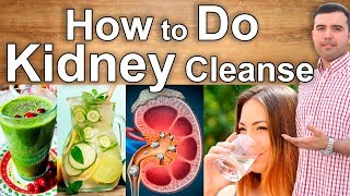KIDNEY DETOX - How to do a Kidney Cleanse At Home Naturally - Home Remedies and Juices for Kidneys