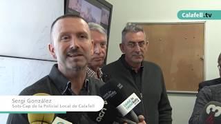 La Policia local de Calafell estrena el nou sistema de videovigilància